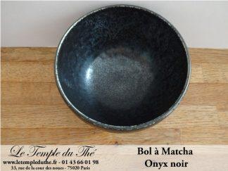 Bol à Matcha japonais Onyx noir