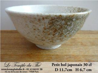 Bol du Japon blanc et doré 30 cl