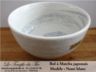 Bol à Matcha japonais blanc Nami