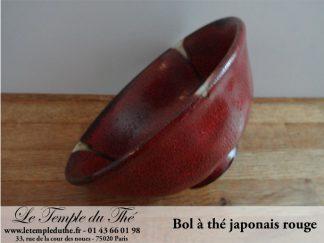 Bol du Japon rouge Bol en terre du Japon