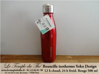 Bouteille isotherme 500 ml rouge