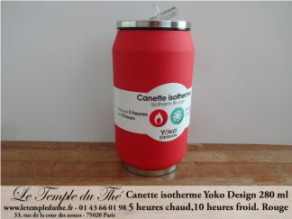 Canette isotherme rouge 280 ml