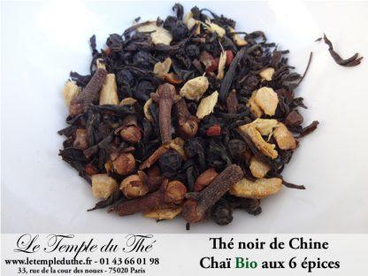 Thé noir de Chine Chaï aux 6 épices BIO