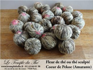 25 thés sculptés Coeur de Pékoe