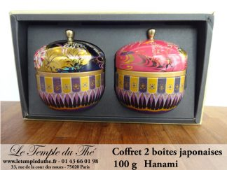 Coffret boîtes à thé japonaises 100 g. Hanami
