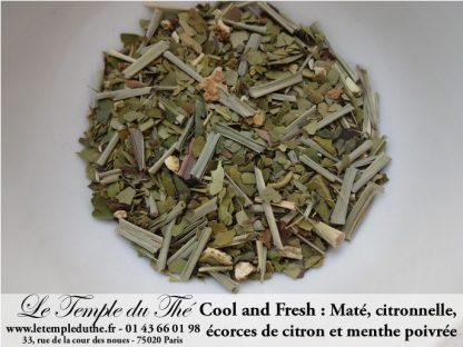Cool and Fresh mélange de Maté vert du Brésil, citronnelle, écorces de citron et menthe poivrée