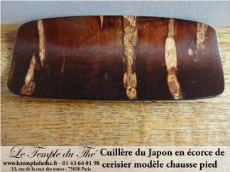 Cuillère japonaise en écorce de cerisier (chausse pied)