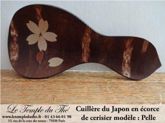 Cuillère japonaise en écorce de cerisier (pelle)
