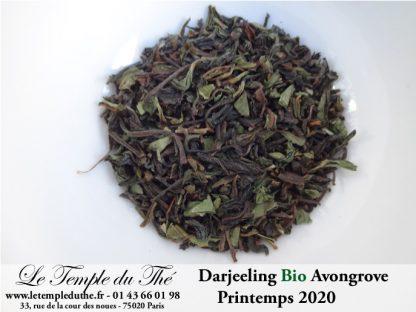Darjeeling Bio printemps 2020 Jardin Avongrove. FF FTGFOP1