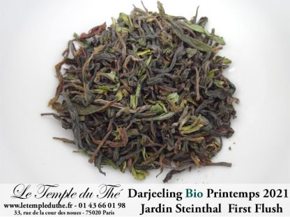 Darjeeling Bio printemps 2021 Jardin Steinthal. FF (first flush) SFTGFOP1