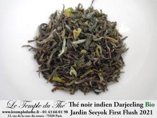 Darjeeling Jardin Seeyok bio première récolte printemps 2021