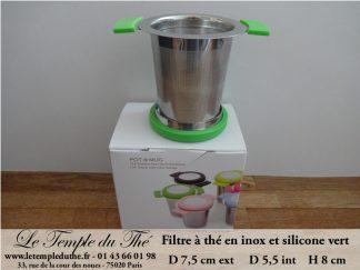 Filtre métal silicone vert