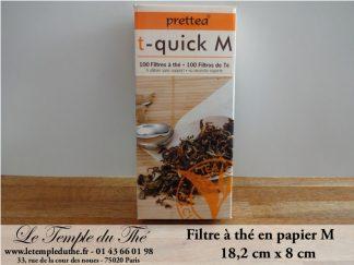 Filtres à thé papier filtre à thé M