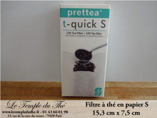 Filtres à thé papier filtre à thé S