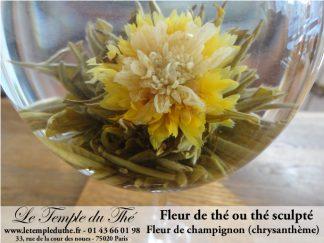 Fleur de thé Fleur de Champignon thé sculpté