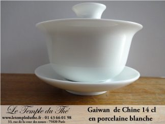 Gaiwan en porcelaine de Chine 14 cl blanc