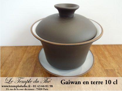 Gaiwan ou Zhong en terre 10 cl