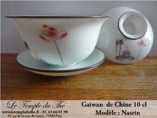 Gaiwan en porcelaine de Chine 10 cl modèle Nasrin