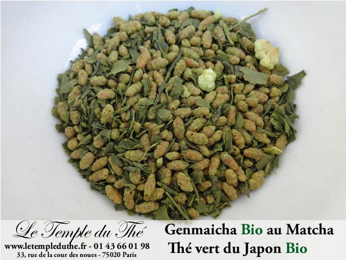 Thé vert du Japon Bio Genmaicha au Matcha