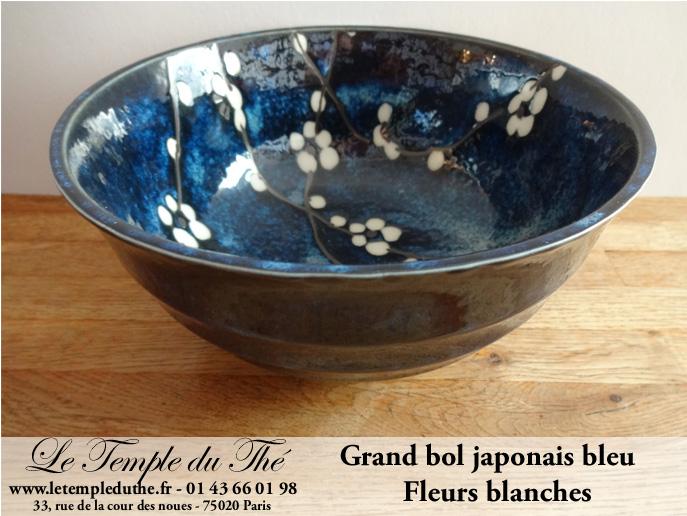 Grand bol japonais bleu