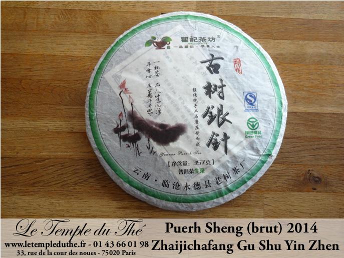 2014 Zhaijichafang Gu Shu Yin Zhen puerh sheng