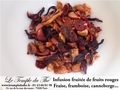 Infusion fruitée de fruits rouges
