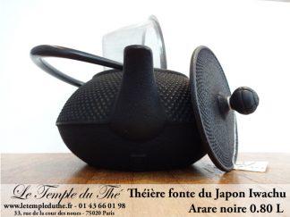 Théière Iwachu Arare Noire 0.8L