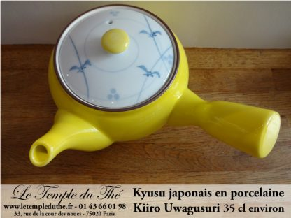Kyusu en porcelaine 35 cl Kiiro Uwagusuri