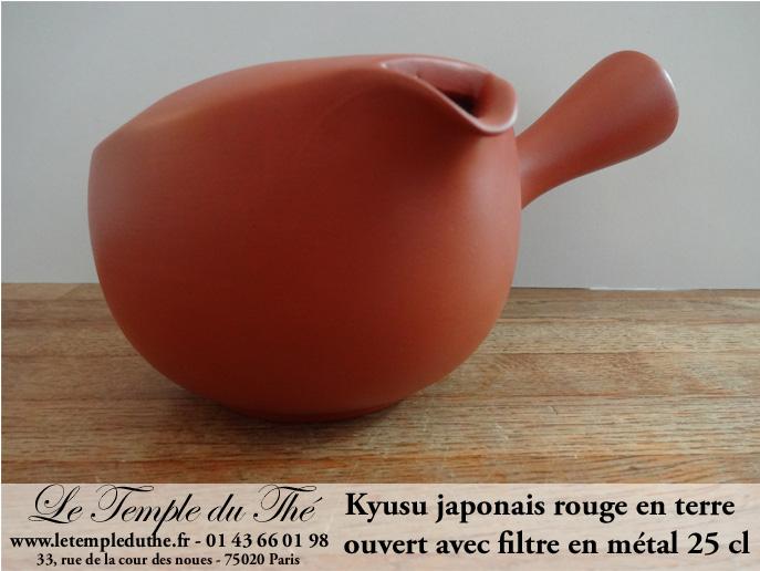Kyusu théière japon terre rouge Tokoname