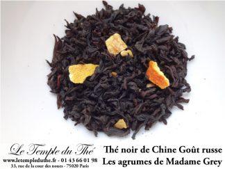 """Thé noir aromatisé """"goût russe"""" Les agrumes de Madame Grey"""
