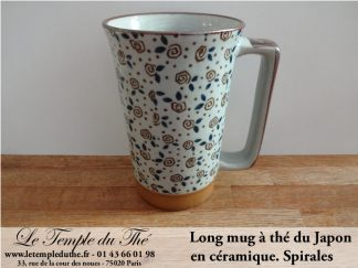 Long mug du Japon en céramique 35 cl. Spirales