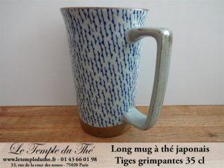 Long mug du Japon en céramique 35 cl tiges grimpantes