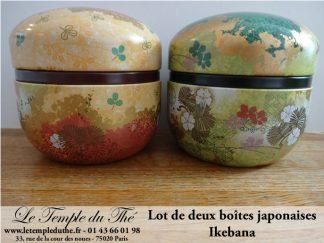 Deux boîtes à thé du Japon Ikebana