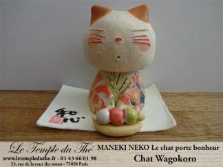 Maneki-Neko Le chat porte bonheur Wagokoro