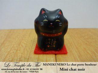 Maneki-Neko Le chat porte bonheur mini chat noir