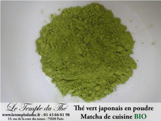Thé vert japonais en poudre les 50 g de Matcha de cuisine BIO
