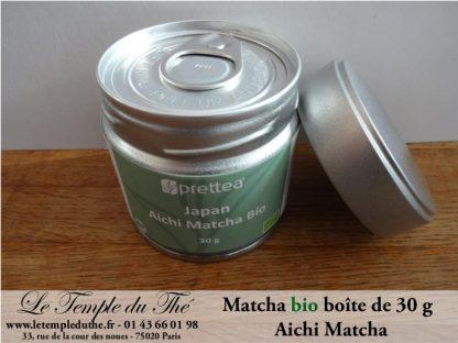 Thé vert du Japon en boîte de 30 g de Matcha Aichi BIO