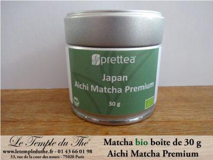 Thé vert du Japon printemps Matcha de cérémonie Bio. Boîte de 30 g Premium