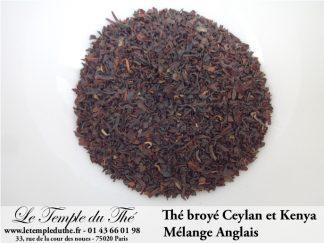 Thé noir broyé Mélange Anglais Ceylan et Kenya