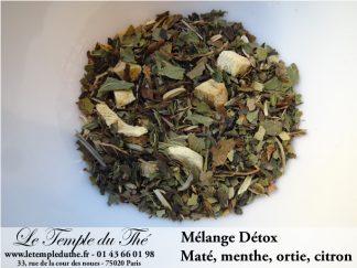 Détox (ortie, maté, menthe et citron...)