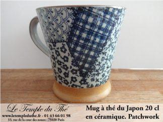 Mug en céramique japonais 20 cl. Patchwork