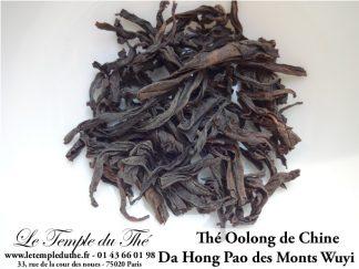 Thé semi fermenté Oolong Da Hong Pao des monts Wuyi