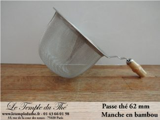 Passe thé manche bambou 62 mm