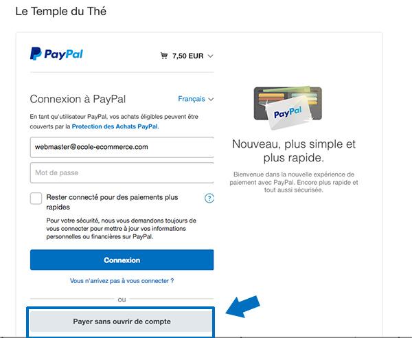 Payer par carte bancaire sans ouvrir de compte Paypal