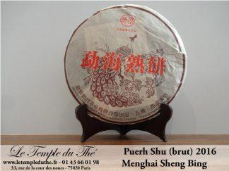 Thé puerh galette Langhe Menghai Shu Bing 2016