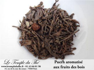 Thé noir de Chine Puerh fermenté aux fruits des bois