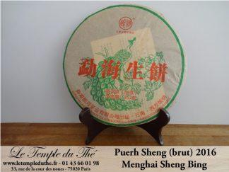 Galette puerh brut Langhe Menghai Sheng Bing 2016