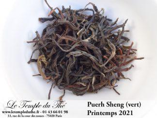 Puerh Sheng (vert) de Chine