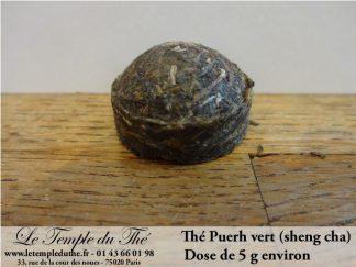 Thé Puerh brut (sheng) dose de 5 g