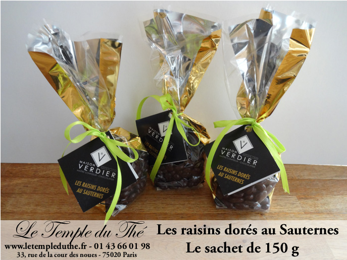 Les raisins dorés au Sauternes Verdier le sachet de 150 g